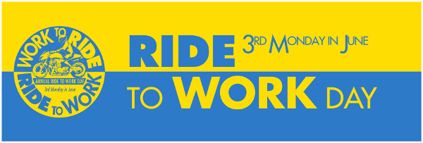 World ride your Motorcycle to Work Day